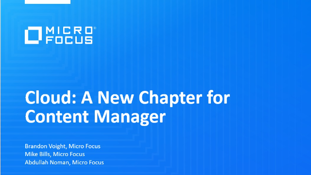 Cloud: A New Chapter for Content Manager