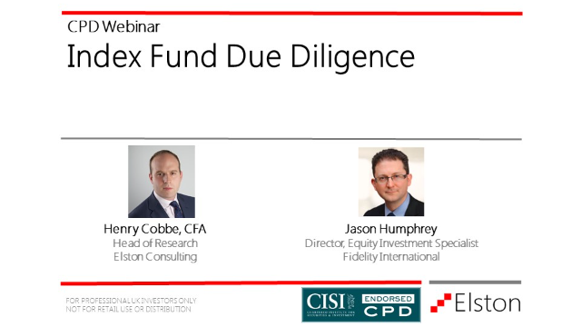 CPD: Index Fund Due Diligence.