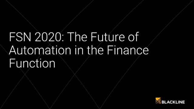 FSN 2020: The Future of Automation in the Finance Function