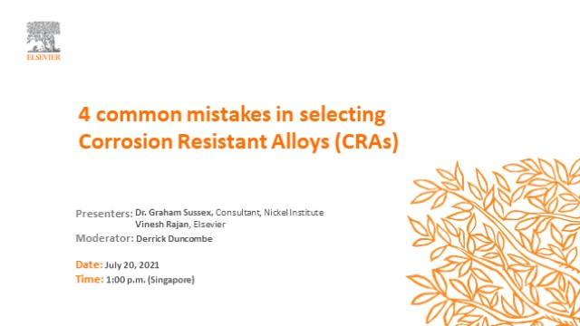 4 common mistakes when choosing a corrosion-resistant alloy