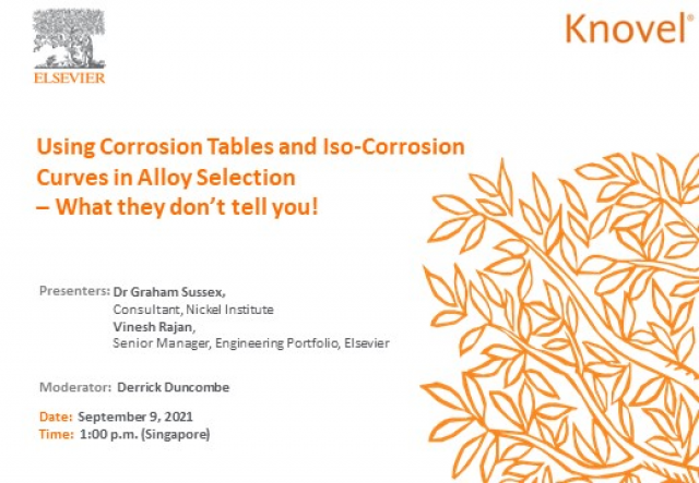 Using Corrosion Tables and Iso-Corrosion Curves to select alloy (APAC)