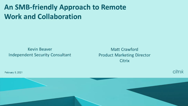An SMB-friendly Approach to Remote Work and Collaboration