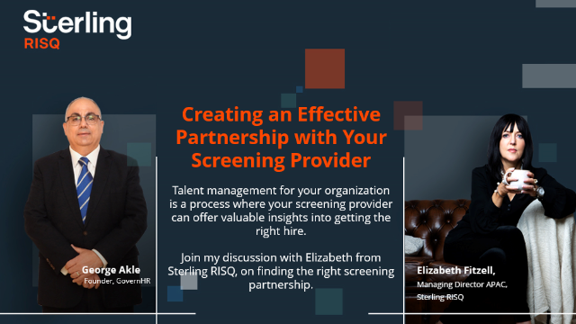 Creating and Effective Screening Partnership With Your Screening Provider