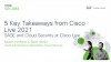 5 Key Takeaways from Cisco Live 2021 - Cloud Security