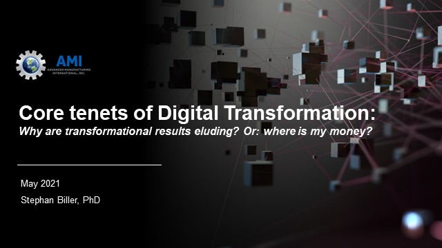 Core of Digital Transformation: why are transformational results eluding?