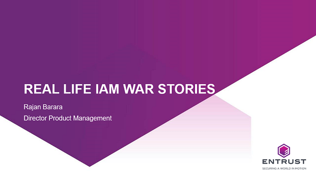 Real life IAM war stories