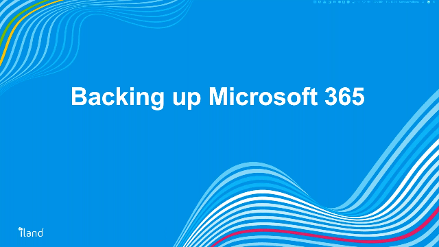 Demo: iland Secure Cloud Backup for Microsoft 365