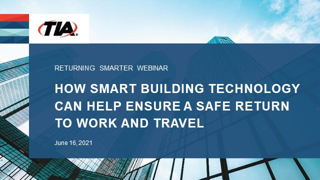 How smart building technology helps ensure a safe return to work and travel
