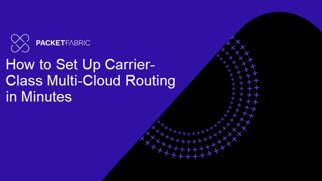 How to Set Up Carrier-Class Multi-Cloud Routing in Minutes