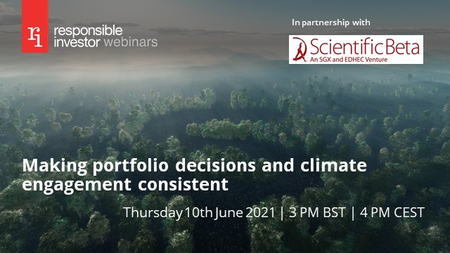 Making portfolio decisions and climate engagement consistent