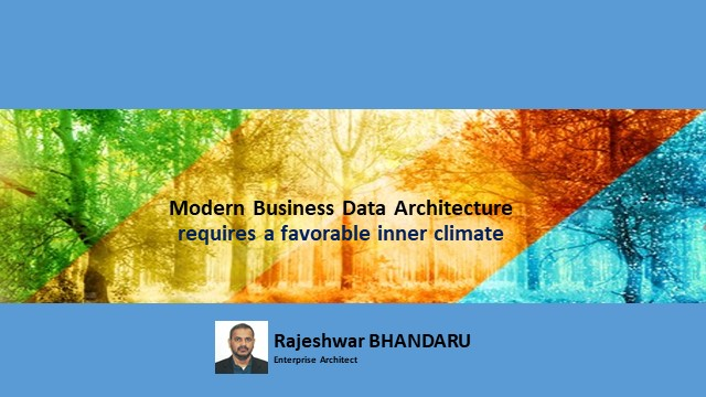 Modern Business Data Architecture Requires a favorable inner climate