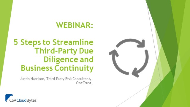 5 Steps to Streamline Third-Party Due Diligence and Business Continuity