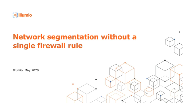 Network Segmentation Without a Single Firewall Rule