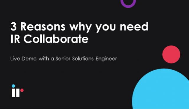 Live Deminar - 3 Reasons why you need IR Collaborate