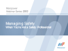 Managing Safety--When You're Not a Safety Professional