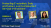 Protecting credentials, data, and secrets in a containerized DevOps environment