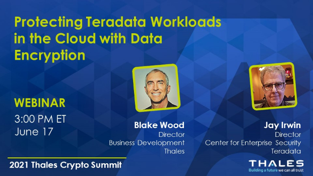 Protecting Teradata Workloads in the Cloud with Data Encryption