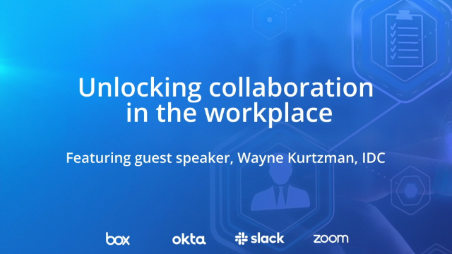 Unlocking collaboration in the workplace, featuring IDC