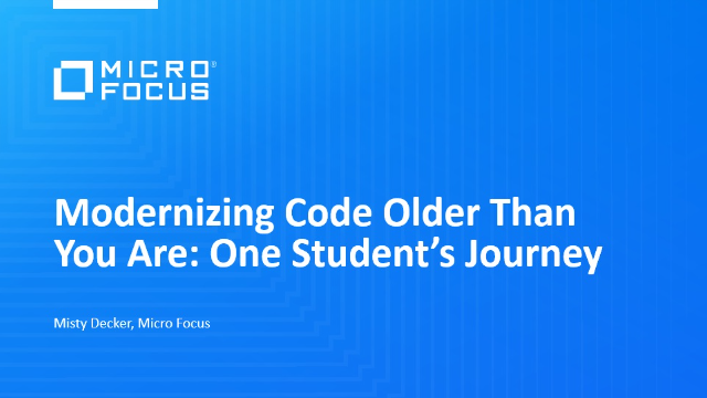 Modernizing Code Older Than You Are: One Student's Journey