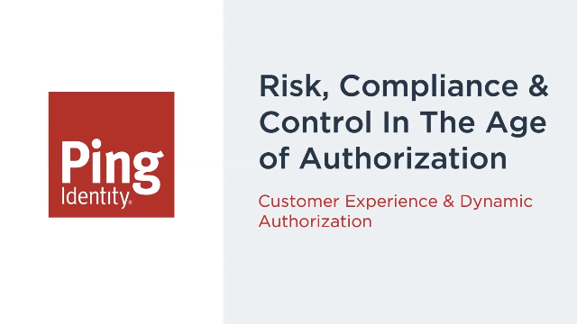 Risk Compliance & Control in the Age of Authorisation.