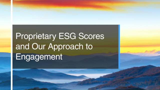 Proprietary ESG Scores and Our Approach to Engagement