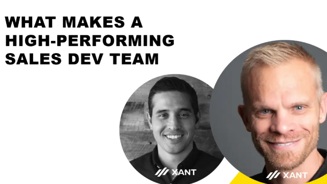 What Makes a High Performing Sales Development Team