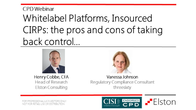 Whitelabel Platforms, Insourced CIRPs: the pros and cons of taking back control…