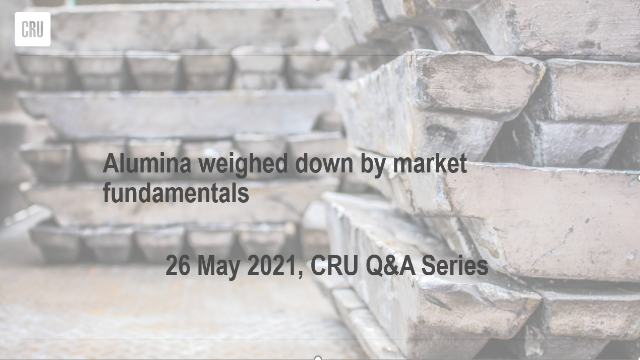 Alumina weighed down by market fundamentals