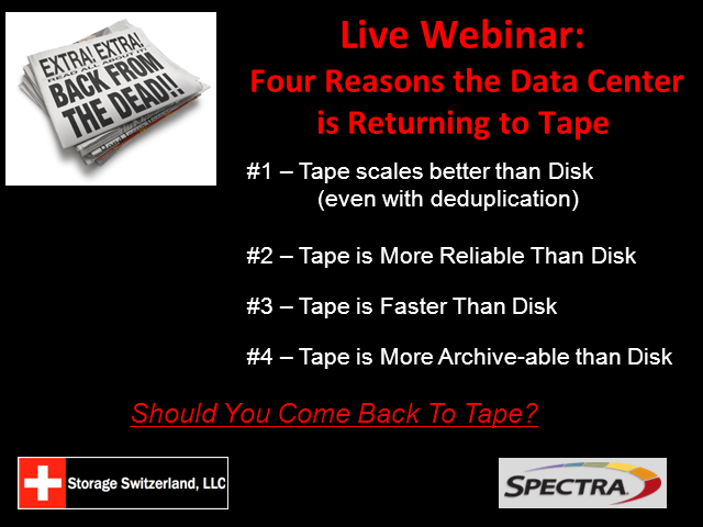 The Four Reasons the Data Center is Returning to Tape