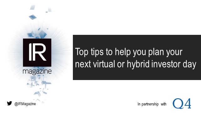 Webinar – Top tips to help you plan your next virtual or hybrid investor day