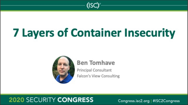 7 Layers of Container Insecurity