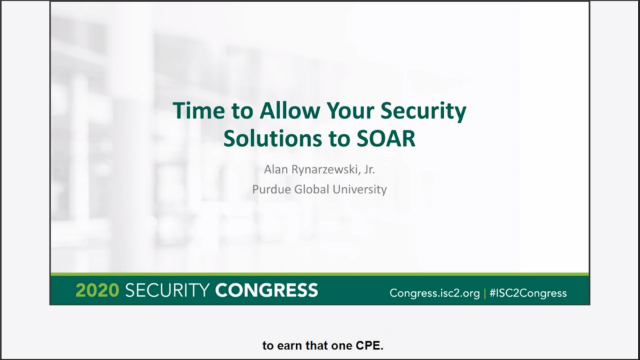 It Is Time to Allow Your Security Solutions to SOAR