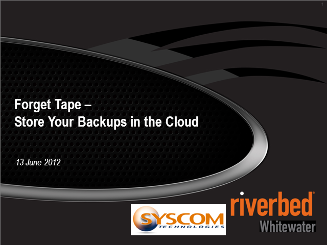 Forget Tape, Store your Backups in the Cloud