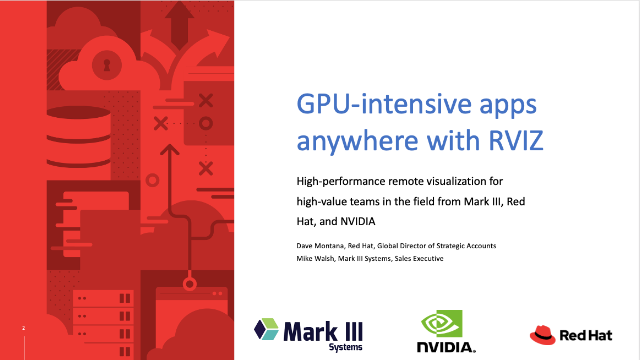 Have laptop, will travel: GPU-intensive applications anywhere with RVIZ