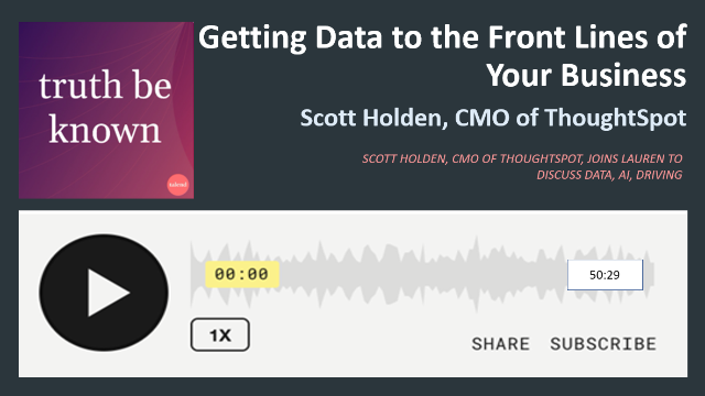 Podcast: Getting Data to the Front Lines of Your Business with ThoughtSpot