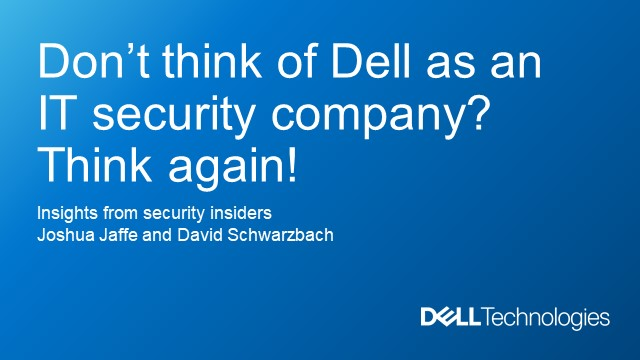 Dell Intrinsic Security