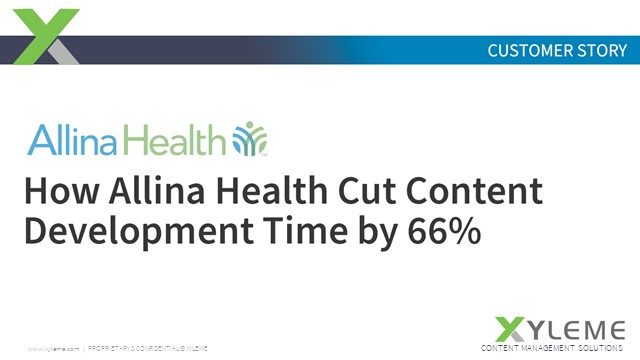 How Allina Health Cut Content Development Time by 66%