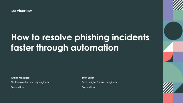 How to resolve phishing incidents faster through automation