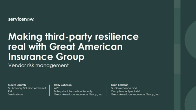 A Customer's Journey to Make Third-Party Resilience Real