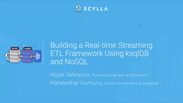 Building a Real-time Streaming ETL Framework Using ksqlDB and NoSQL