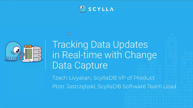 Change Data Capture - Track NoSQL Data updates in real time
