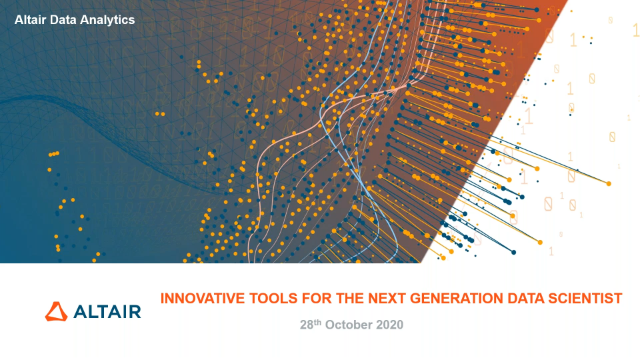 Innovative Tools for the Next Generations data scientist