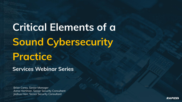 Critical Elements of a Sound Cybersecurity Practice