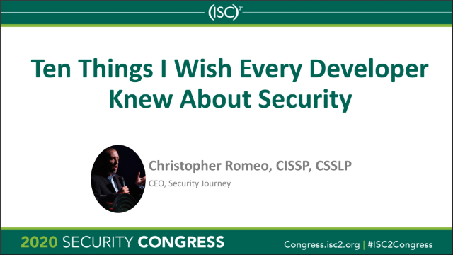 Ten Things I Wish Every Developer Knew About Security