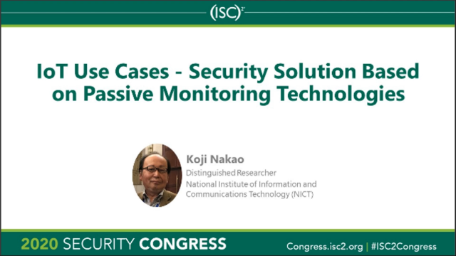 IoT Use Cases - Security Solution Based on Passive Monitoring Technologies
