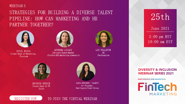 D&I Strategy building diverse talent pipeline - How can Marketing and HR partner