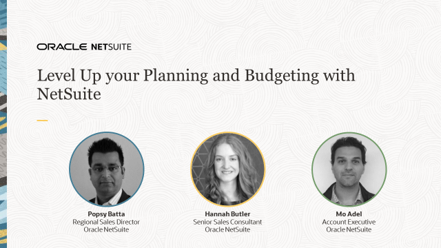 Level Up your Planning and Budgeting with NetSuite