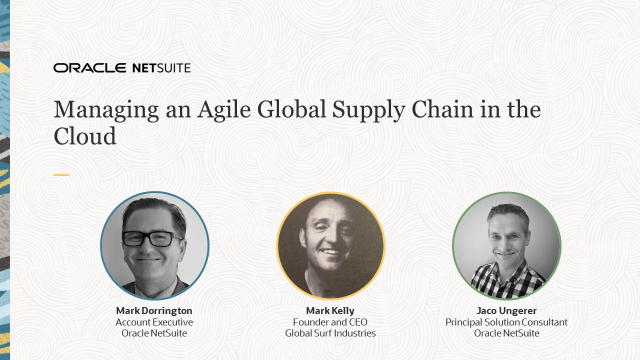 Managing an Agile Supply Chain in the Cloud