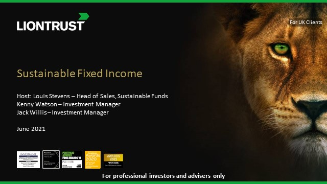 Liontrust Monthly Income Bond Fund & SF Corporate Bond Fund Update (UK ONLY)