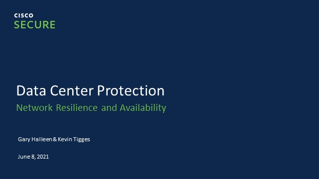 DC Protection, Network Resilience & Availability